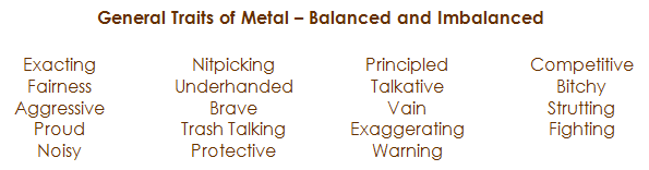Traits of metal brown